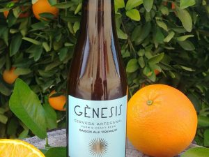 Artisanal beer with oranges 100% bio